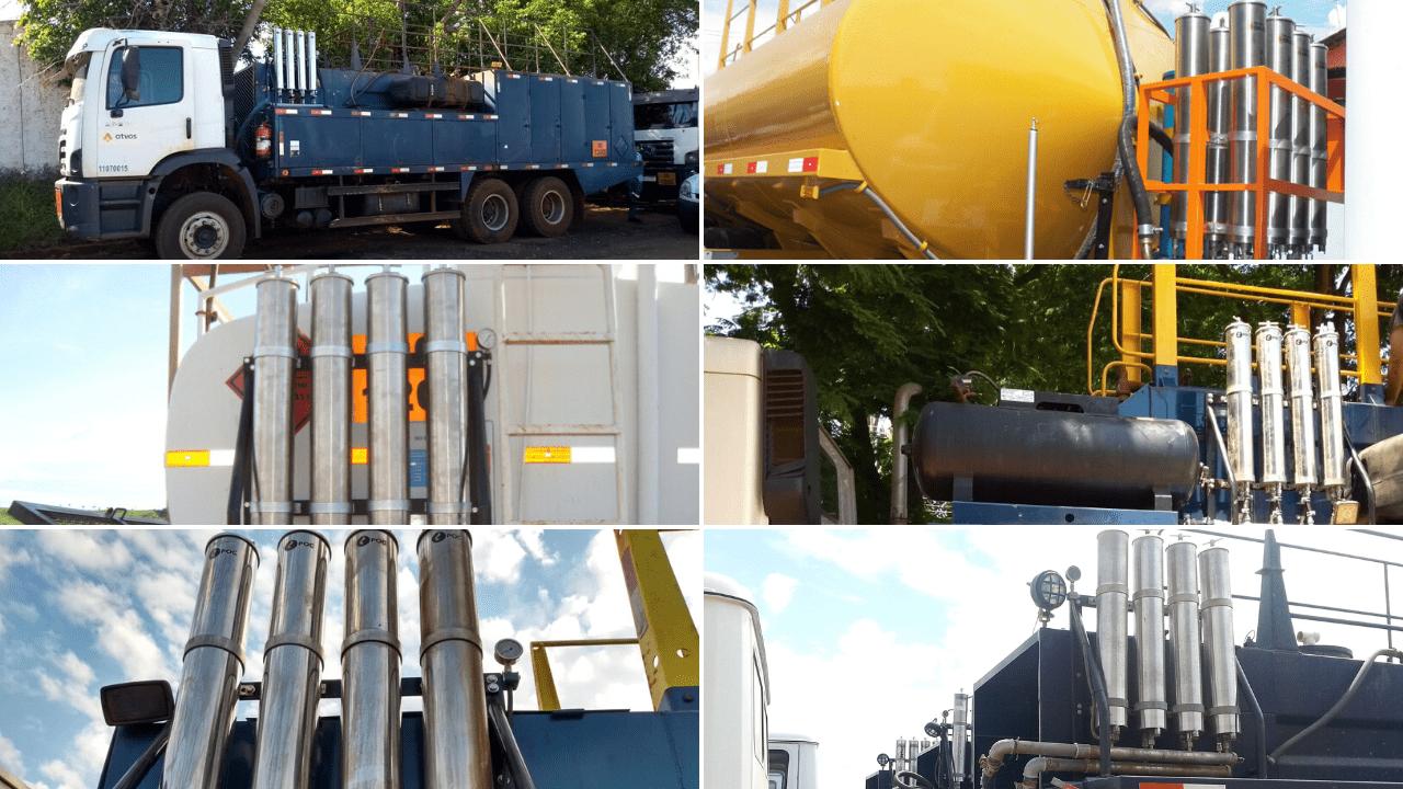 comboio de abastecimento de diesel