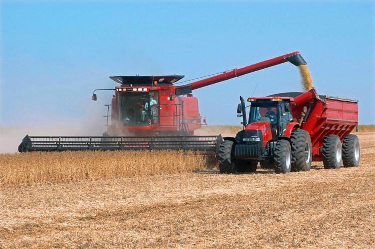 análise de óleo em máquina agrícola